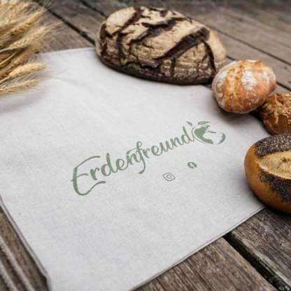 Bio-Leinen Brotbeutel