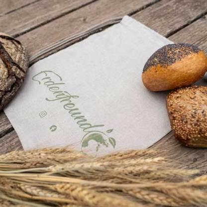 Bio-Leinen Brotbeutel klein Erdenfreund