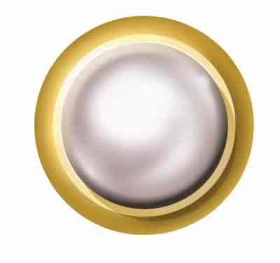 Cabachon Set Created Pearl - White