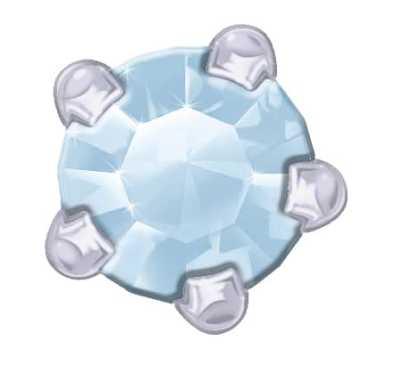 Claw Set - SWAROVSKI GEMS - Blue Zirconia