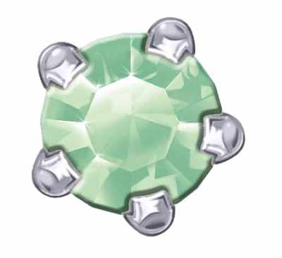 Claw Set - SWAROVSKI ELEMENTS - Peridot
