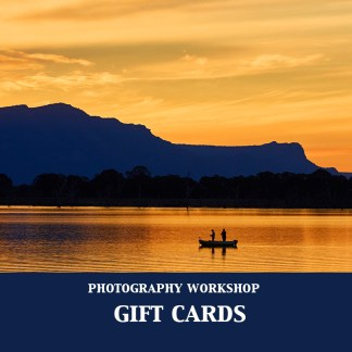 Excitations online gift card photo, for use with photography workshops. Image is sunset over Lake Fyans, Grampians Australia.