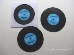 Invitation Vinyl (découpe forme)
