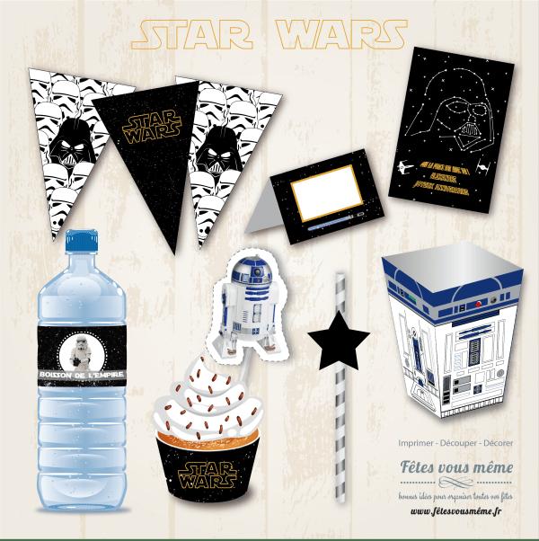 Kit déco Star Wars - Fêtes vous même