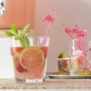 Agitateurs Flamant rose pour boisson - Fêtes vous même