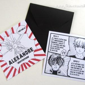 Invitation Manga - Fêtes vous même