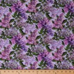 Cotton Lilacs Flowers Floral Allover Chelsea Blue Purple Cotton Fabric Print By The Yard Dp23058 82
