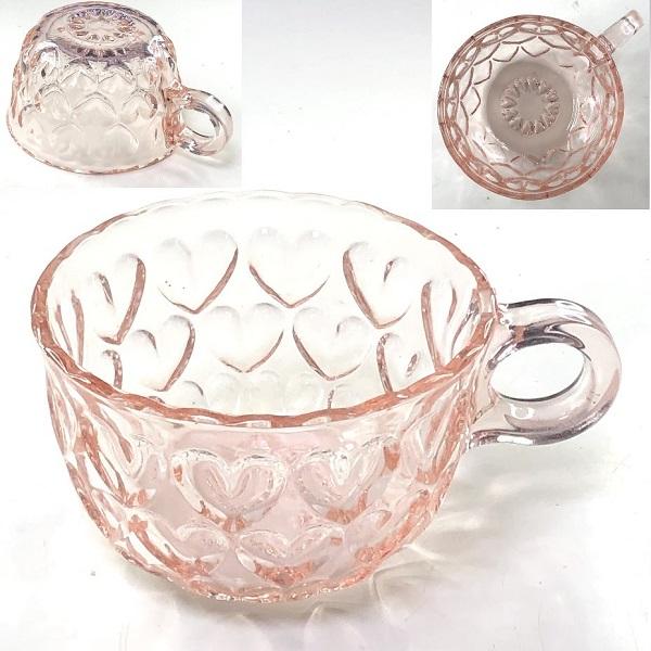 ピンクガラスカップC304