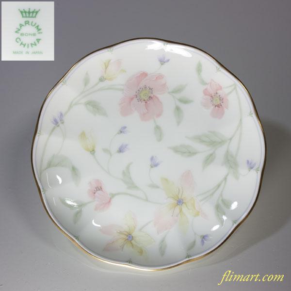 ナルミ花柄小皿13cmプレート