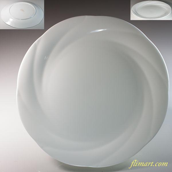 ノリタケアンサンブルホワイト ENSEMBLE WHITE 24cmプレート