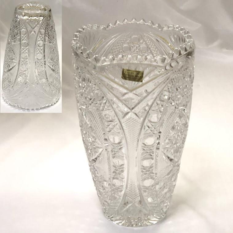 カメイクリスタルガラス花瓶T1900