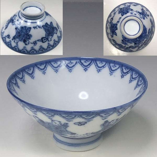 唐子飯茶碗W7406