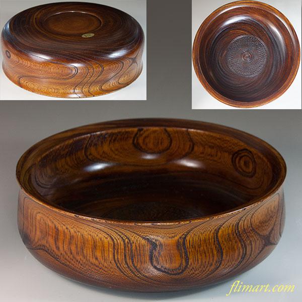 山中塗木製漆器菓子鉢W6802