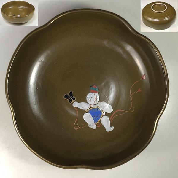 童図梅型菓子鉢W7538
