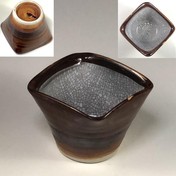 墨貫入角小鉢