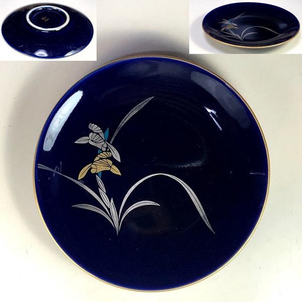 香蘭社瑠璃蘭小皿W8366