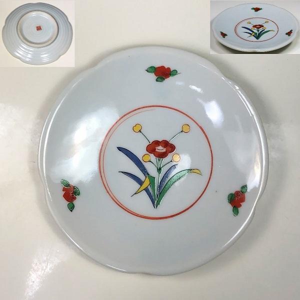 色絵小皿W7338