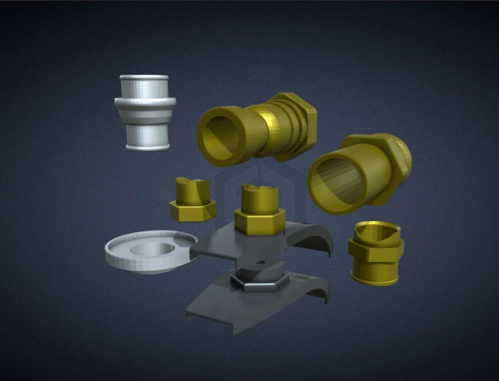 Immortan Joe Air Filters and Hose Connectors 3D Print Files