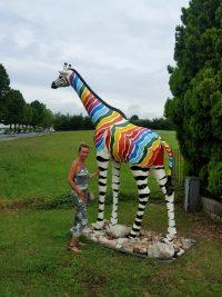 giraffe fieberglass gartenfiguren garten fantasy