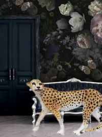 bunte leopard designe figuren gartenfiguren gartenfantasy