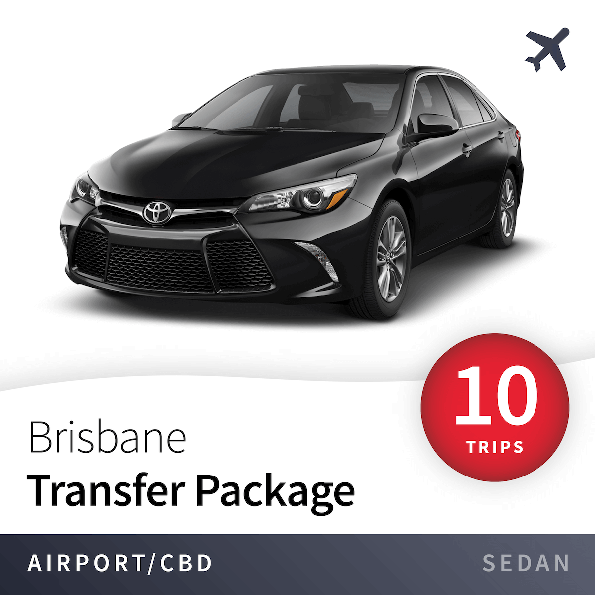 Brisbane Airport Transfer Package - Sedan (10 Trips) 1