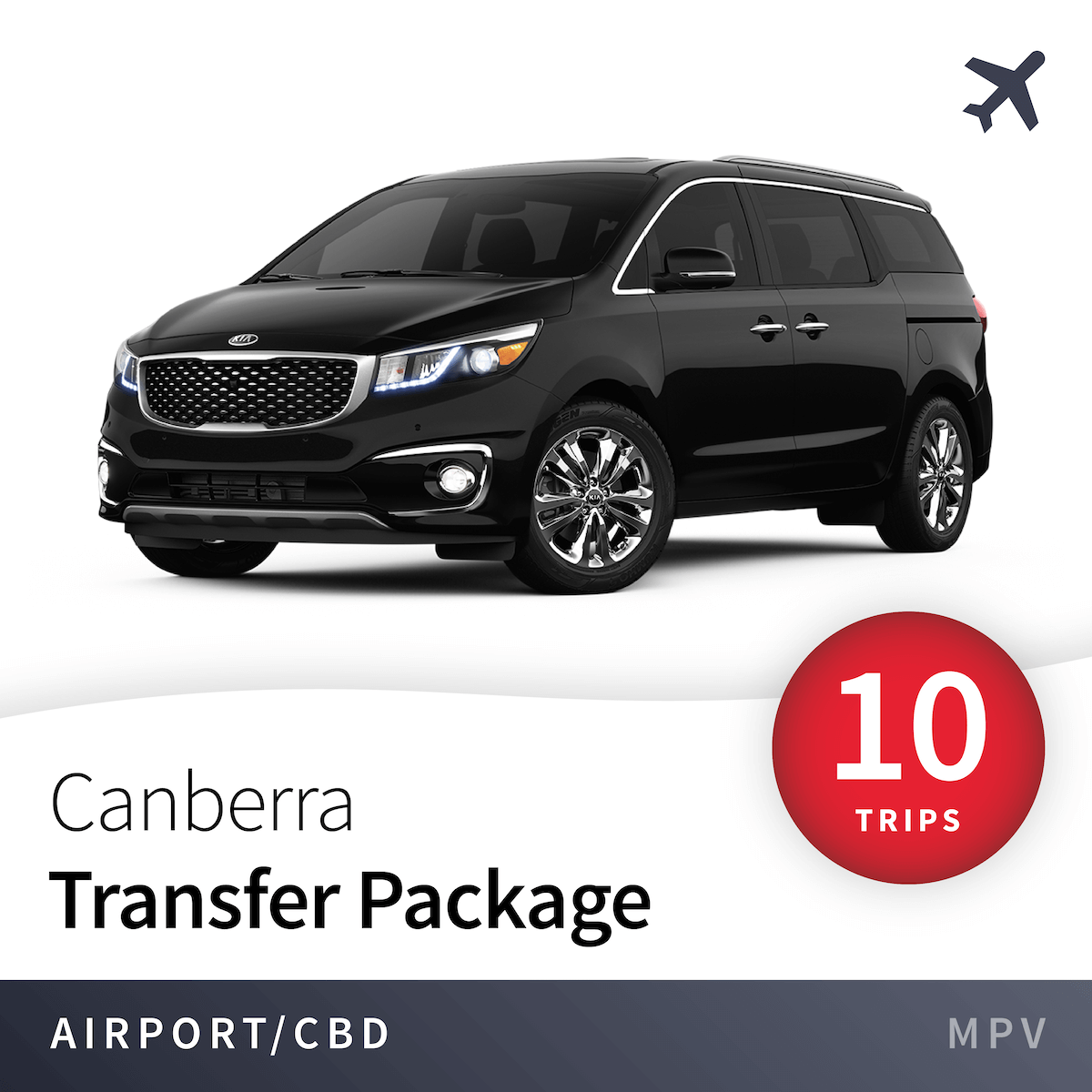 Canberra Airport Transfer Package - MPV (10 Trips) 1