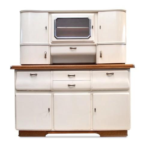 Vintage Buffet creme Küchenschrank Midcentury 50er-Jahre Retro Küche