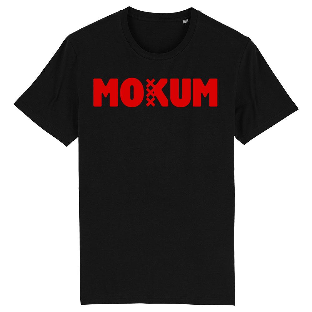 Mokum shirt zwart-rood