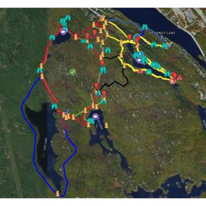 kearney lake trails gps map