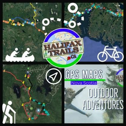 gps maps for hiking, biking and paddling in halifax, nova scotia