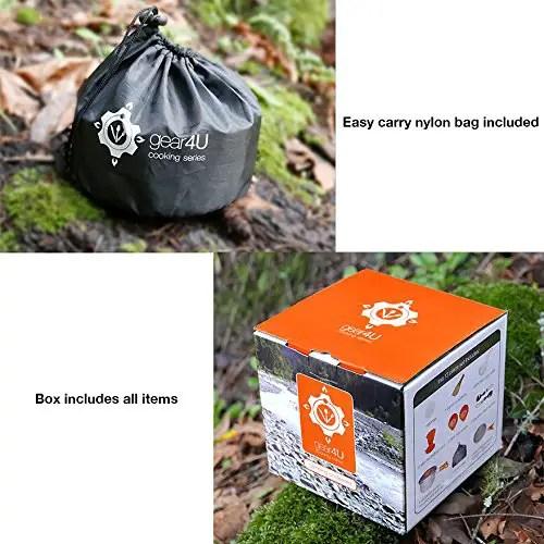 Gear4U Camping Cookware Mess Kit