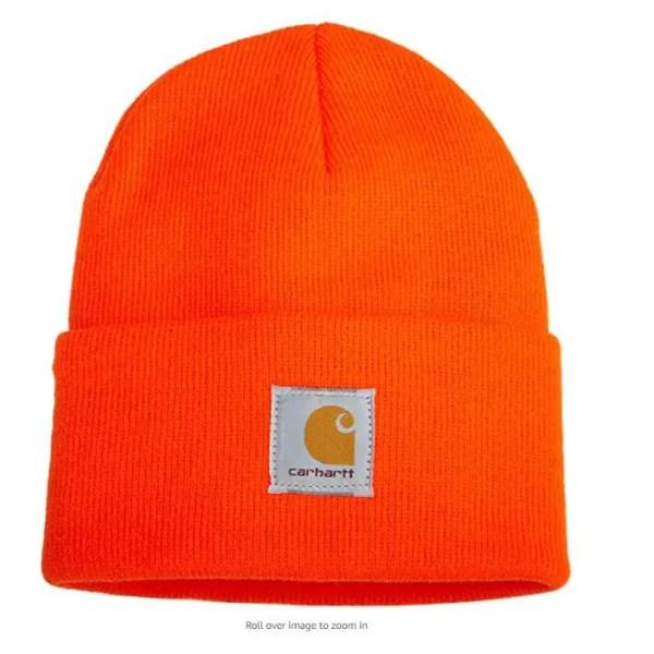 carhartt watch hat blaze orange