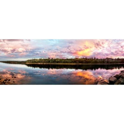 long lake provincial park sunset mug