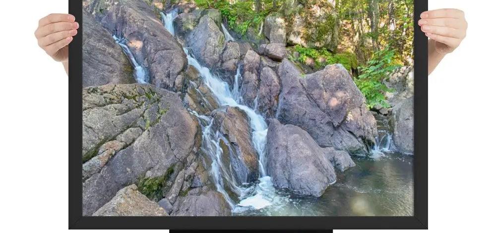 Framed Photo Print:  Pockwock Falls (Premium Luster)
