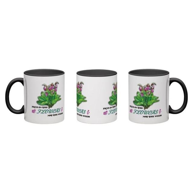 focus on the flowers 11oz coffee mug
