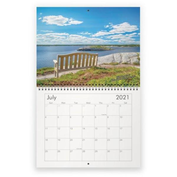 2021 wall calendar - halifax, nova scotia