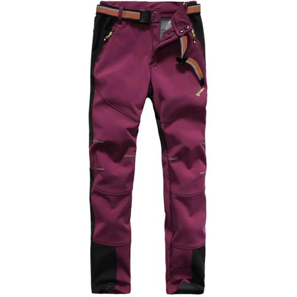 Tofern Womens Winter Softshell Pants Thicken Fleece Warm Waterproof 10000mm Outdoor Hiking Climbing Trousers