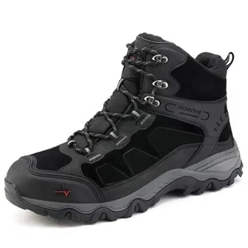 NORTIV 8 Men's Waterproof Hiking Boots Outdoor Mountaineering Trekking Mid Backpacking Shoes