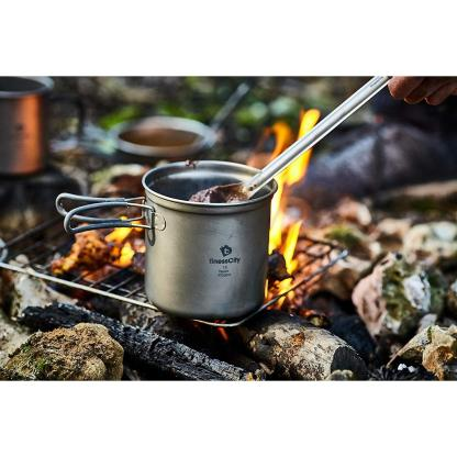 Titanium Long Handle Spoon with Polished Bowl with Waterproof Case