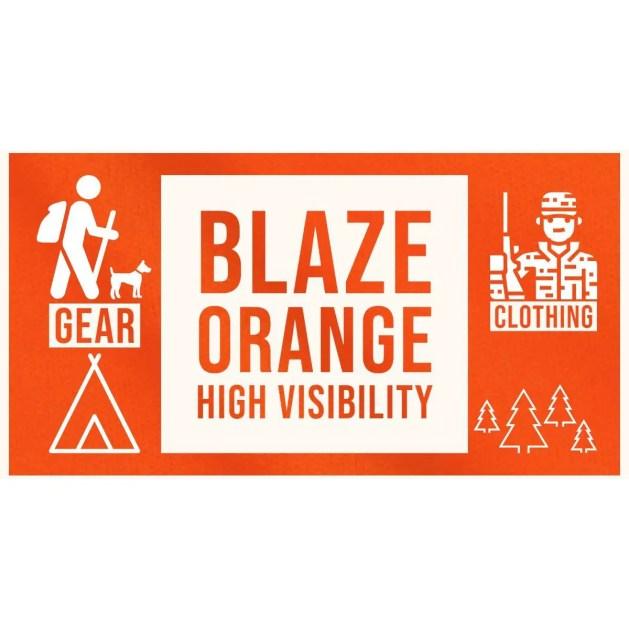 blaze hunter's orange high visibility clothing hunting hiking