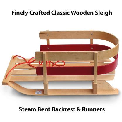 Paricon Flexible Flyer Wooden Baby Sleigh