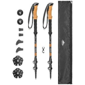 Aluminum Adjustable Trekking Poles - Cascade Mountain Tech