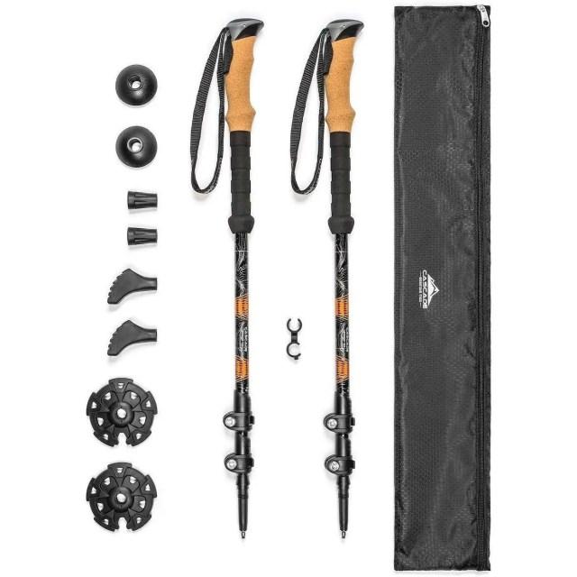 Aluminum Adjustable Trekking Poles - Cascade Mountain Tech