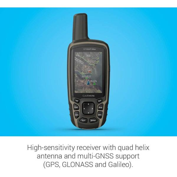 Garmin Gpsmap 64SX, Handheld GPS with Altimeter and Compass