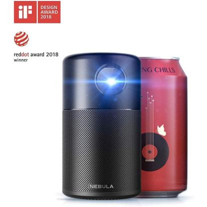 Nebula Capsule, by Anker, Smart Wi-Fi Mini Projector