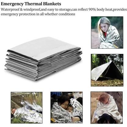 15 in 1 Emergency Survival Kit, Trekoo Outdoor Gear Tool with Bracelet,Wood Cutter,Tactical Pen for