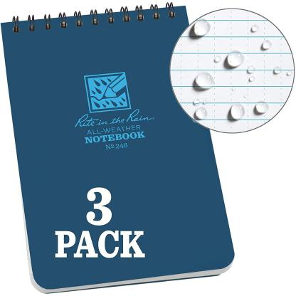 """Rite in the Rain All-Weather Top-Spiral Notebook, 4"""" x 6"""""""