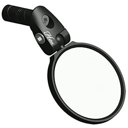 Hafny Bar End Bike Mirror, Stainless Steel Lens, Safe Rearview Mirror
