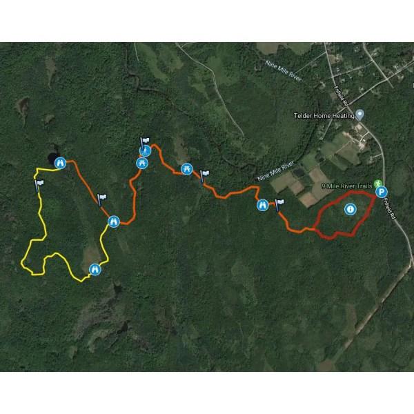 Nine Mile River Trails GPS Map