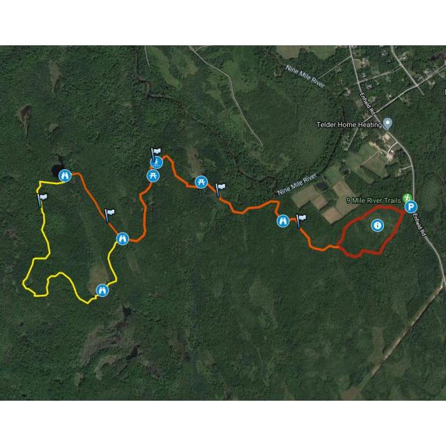 Nine Mile River Trails GPS Map